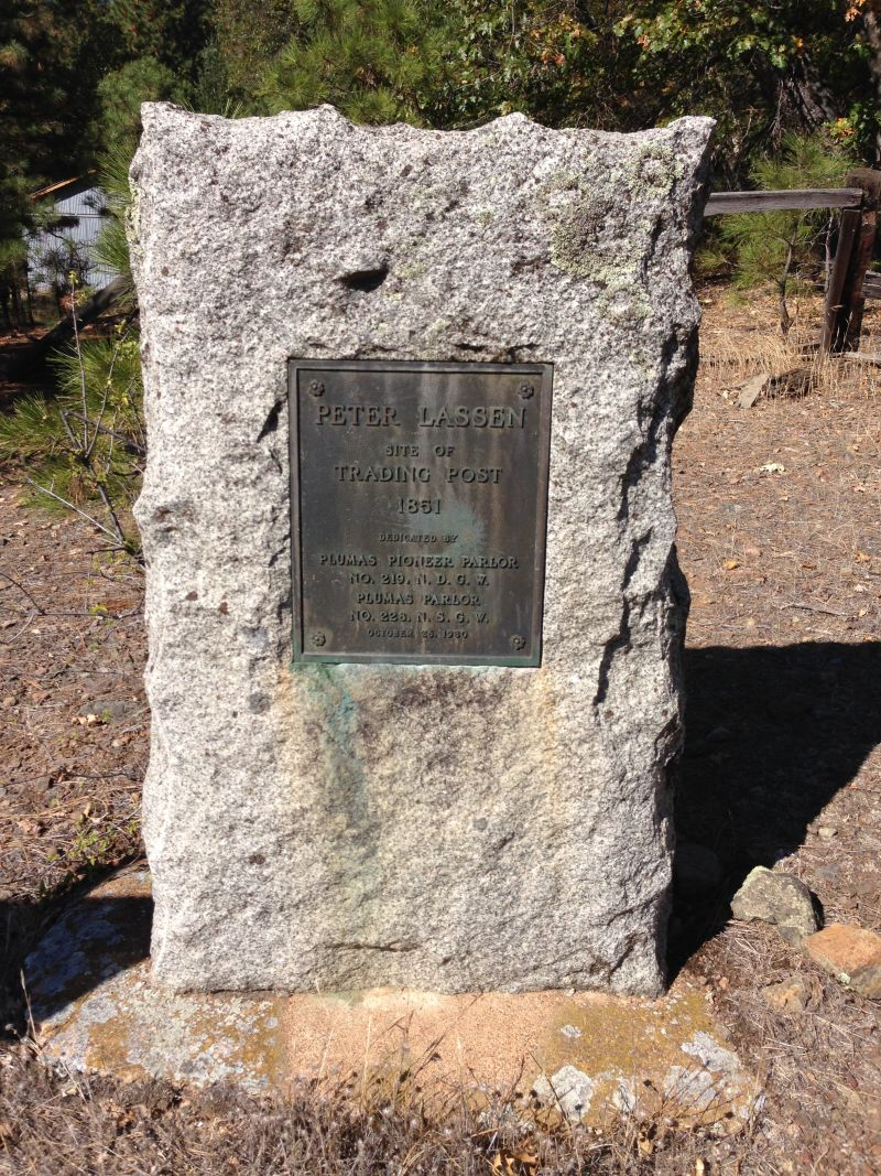 NO. 184 PETER LASSEN MARKER (SITE OF LASSEN TRADING POST) - Marker