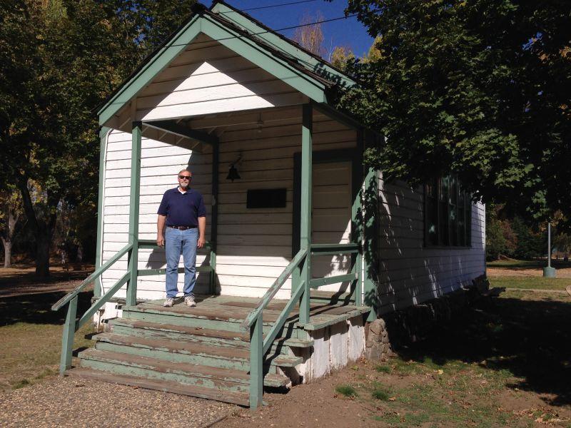 NO. 625 PIONEER SCHOOLHOUSE - Front of school
