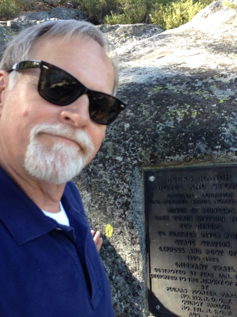 NO. 197 BUCK'S LAKE - Plaque is up in the rocks behind the marina.