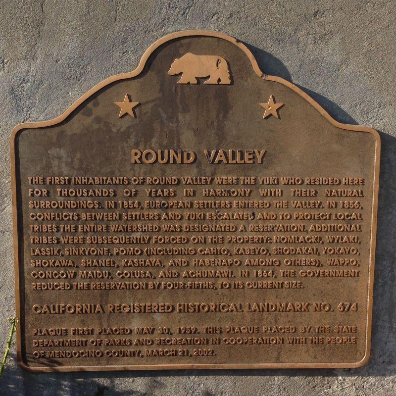 NO. 674 ROUND VALLEY - State Plaque