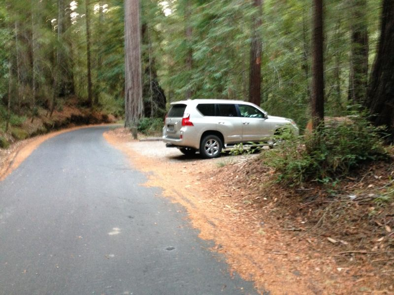 NO. 827 BIG BASIN REDWOODS STATE PARK - Parking at Slippery Rock