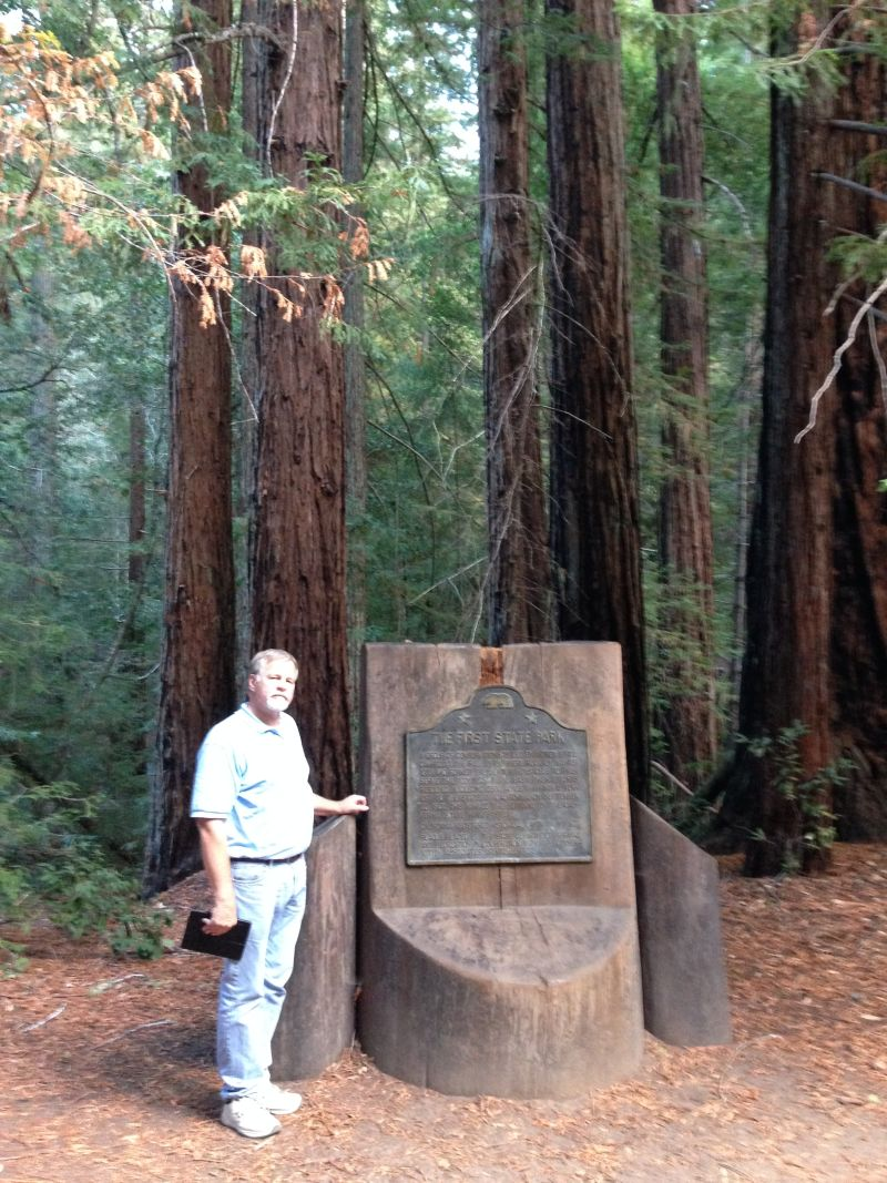 NO. 827 BIG BASIN REDWOODS STATE PARK - Marker