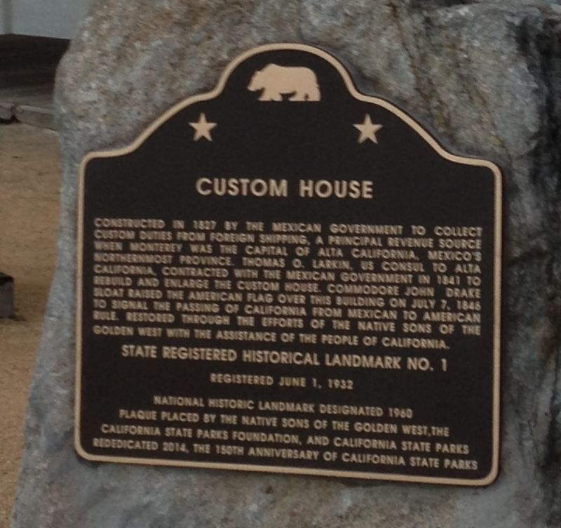CHL No. 1 Old Custom House  - State Plaque
