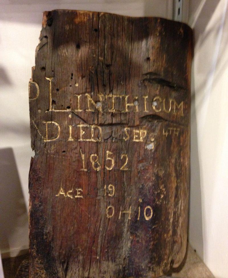 NO. 212 PIONEER GRAVE - Original Grave Marker