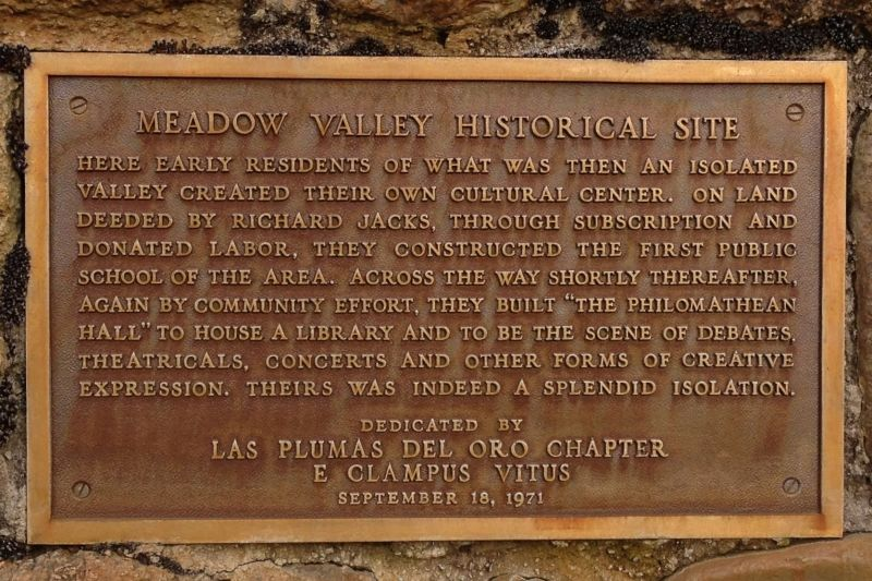NO. 481 SPANISH RANCH AND MEADOW VALLEY - Meadow Valley Private Plaque