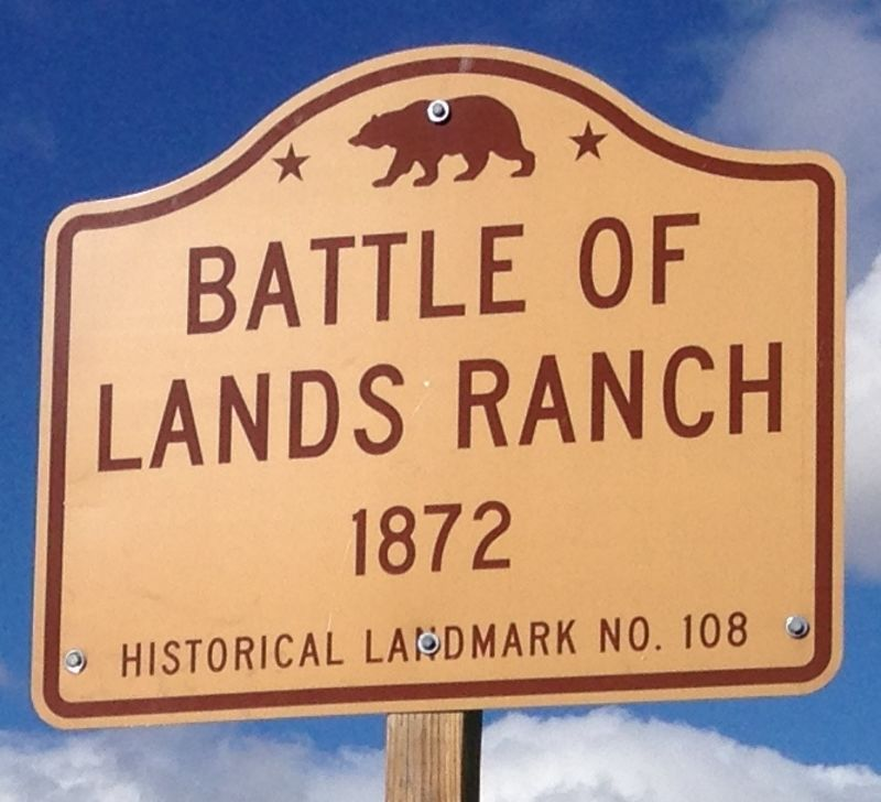 NO. 108 BATTLE OF LAND'S RANCH - Marker