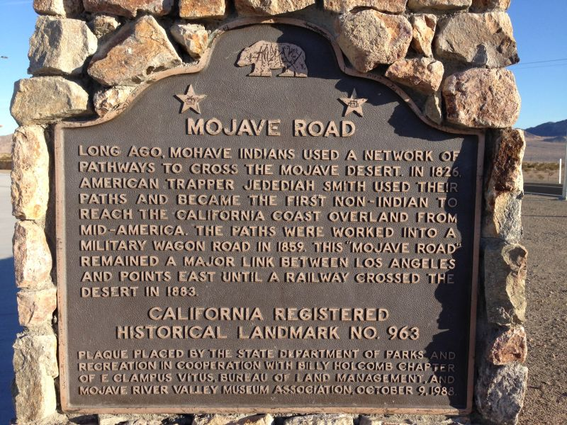 NO. 963 THE MOJAVE ROAD - State Plaque