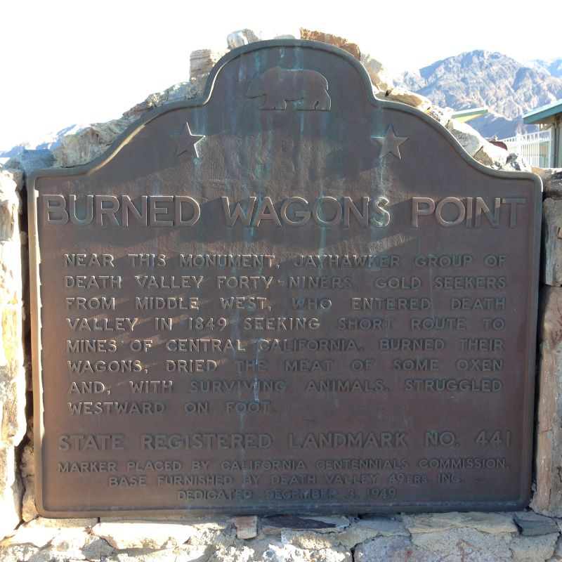 NO. 441 BURNED WAGONS POINT - State Plaque