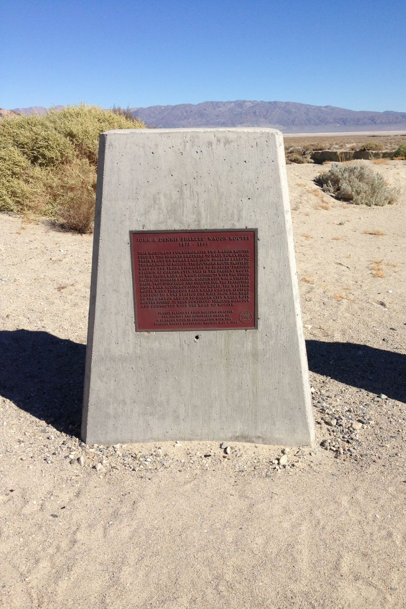 John & Dennis Seales' Wagon Route Marker