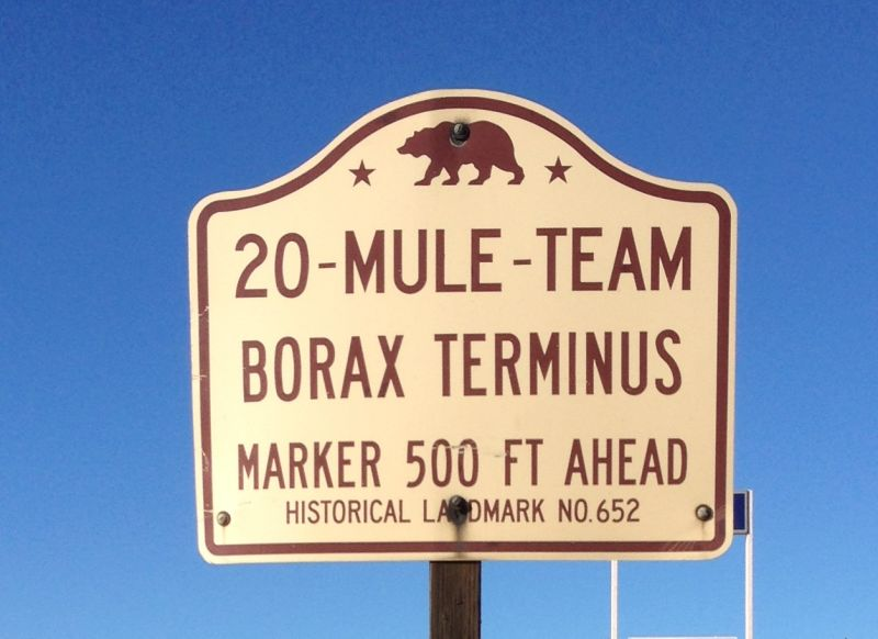 NO. 652 20-MULE-TEAM BORAX TERMINUS - State Street Sign