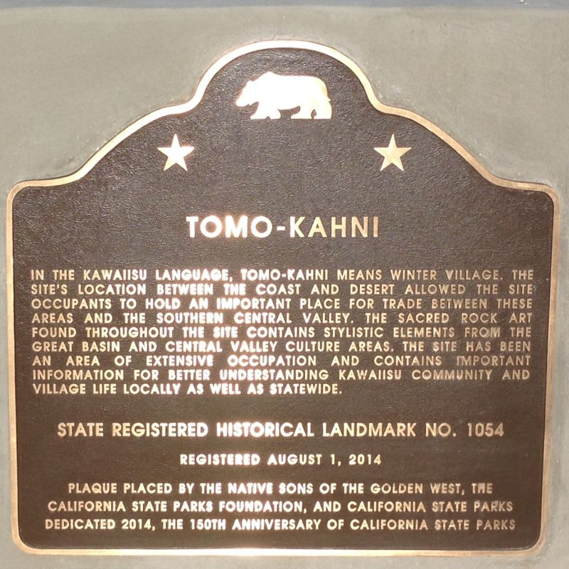 CHL No. 1054 TOMO KAHNI - STATE PLAQUE