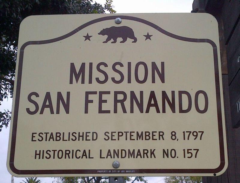 CHL #157: Mission San Fernando Rey de España - State Street Sign