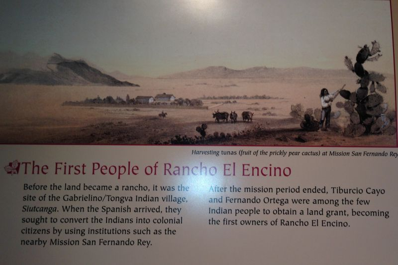 NO. 689 LOS ENCINOS STATE HISTORIC PARK - The First People of Rancho Encino
