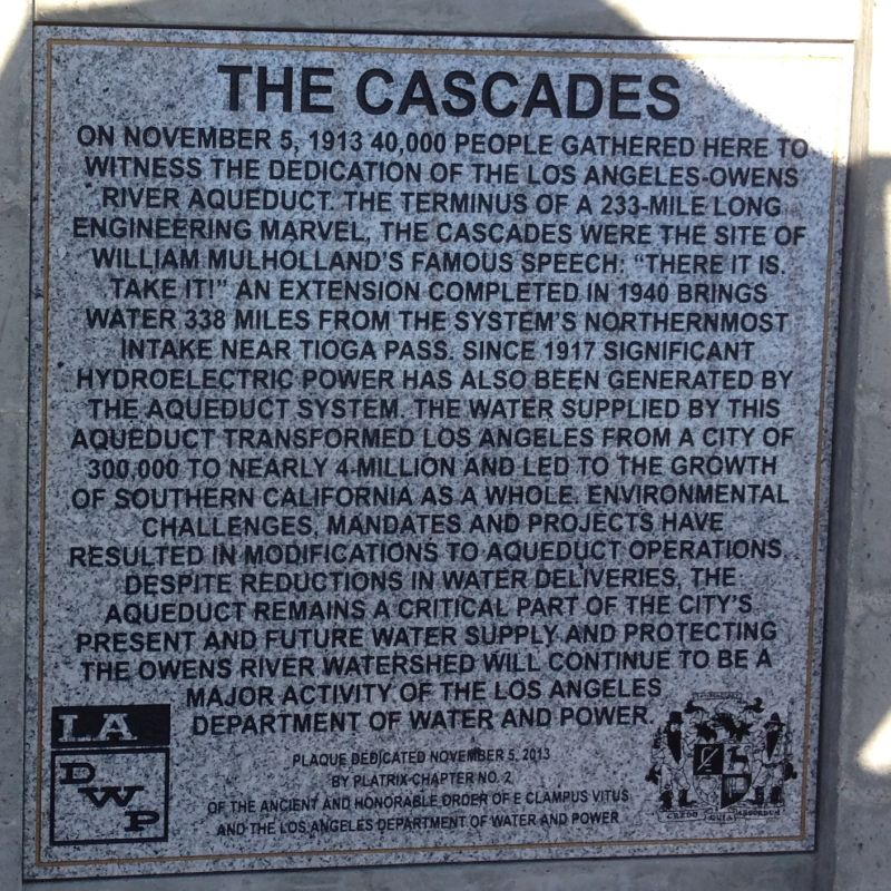 NO. 653 THE CASCADES - Cascades plaque