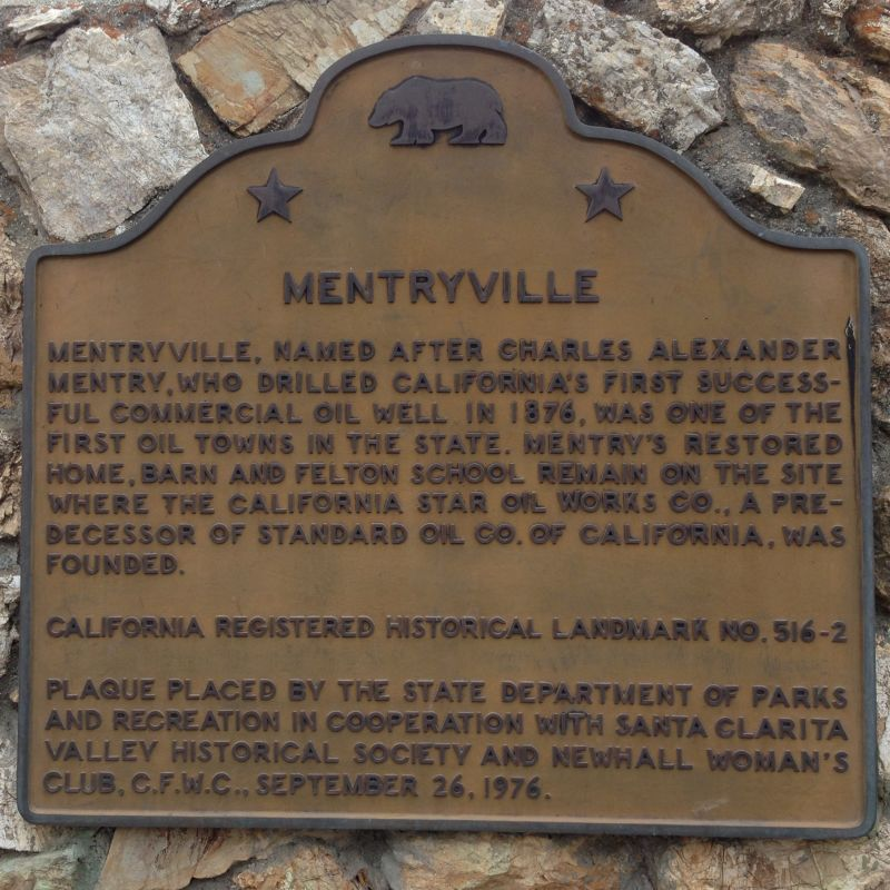 NO. 516-2 MENTRYVILLE - State Plaque