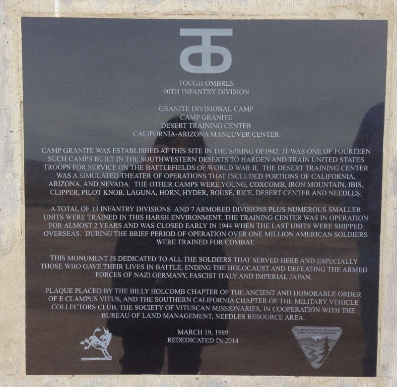 CHL No. 985.2 Camp Granite - Plaque