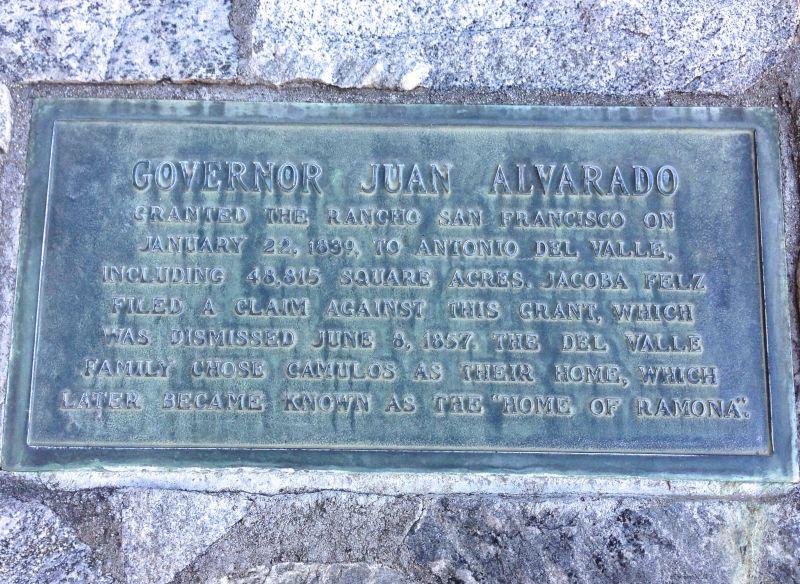 NO. 553 RANCHO CAMULOS - Private Plaque