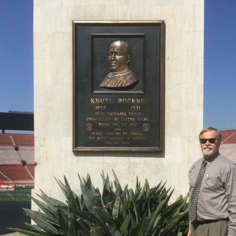NO. 960 LOS ANGELES MEMORIAL COLISEUM - Knute Rockne