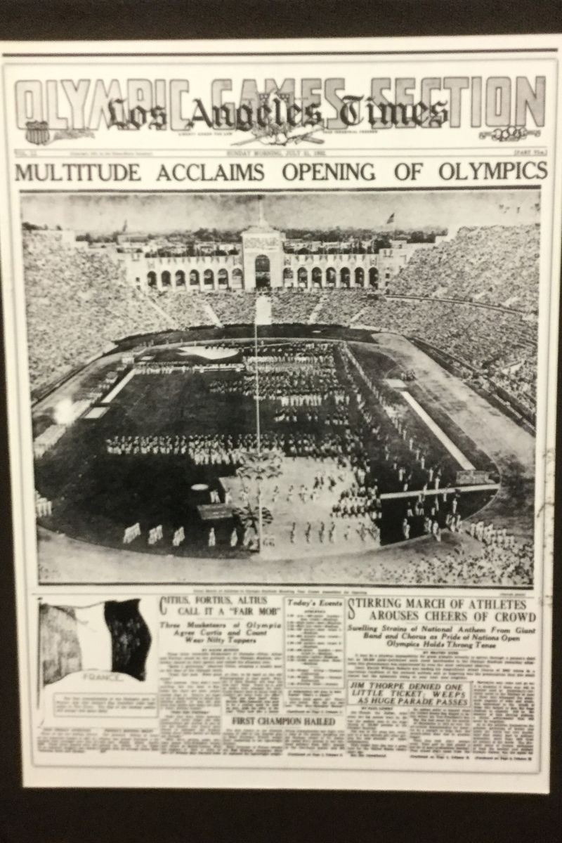 NO. 960 LOS ANGELES MEMORIAL COLISEUM-1932 L.A. Times Headline