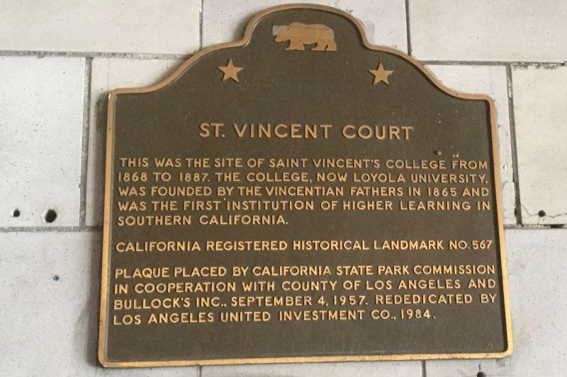 NO. 567 ST. VINCENT'S PLACE - State Plaque