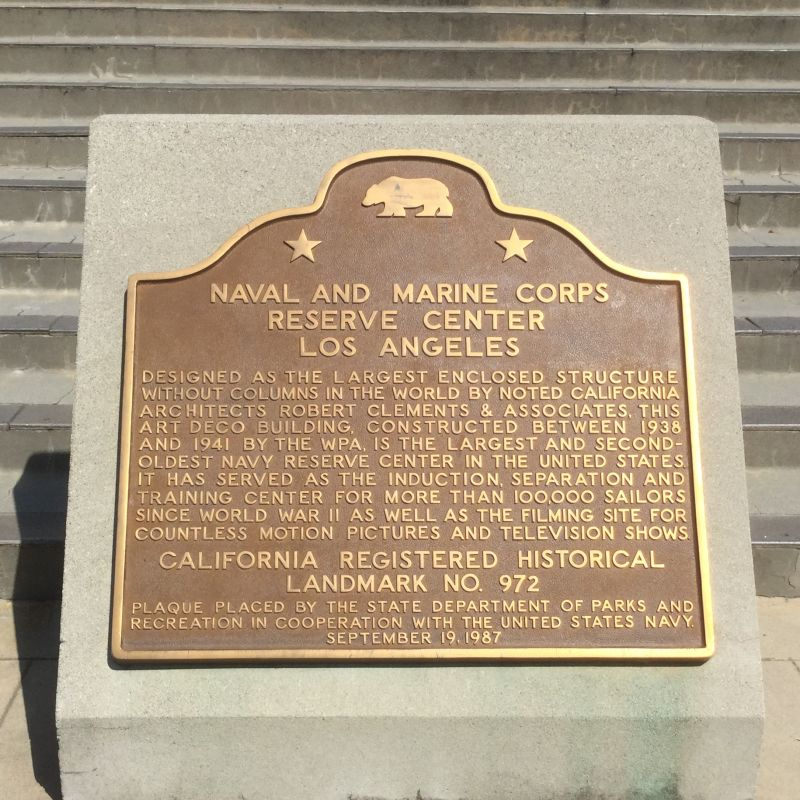 NO. 972 NAVY AND MARINE CORPS RESERVE CENTER - State Plaque