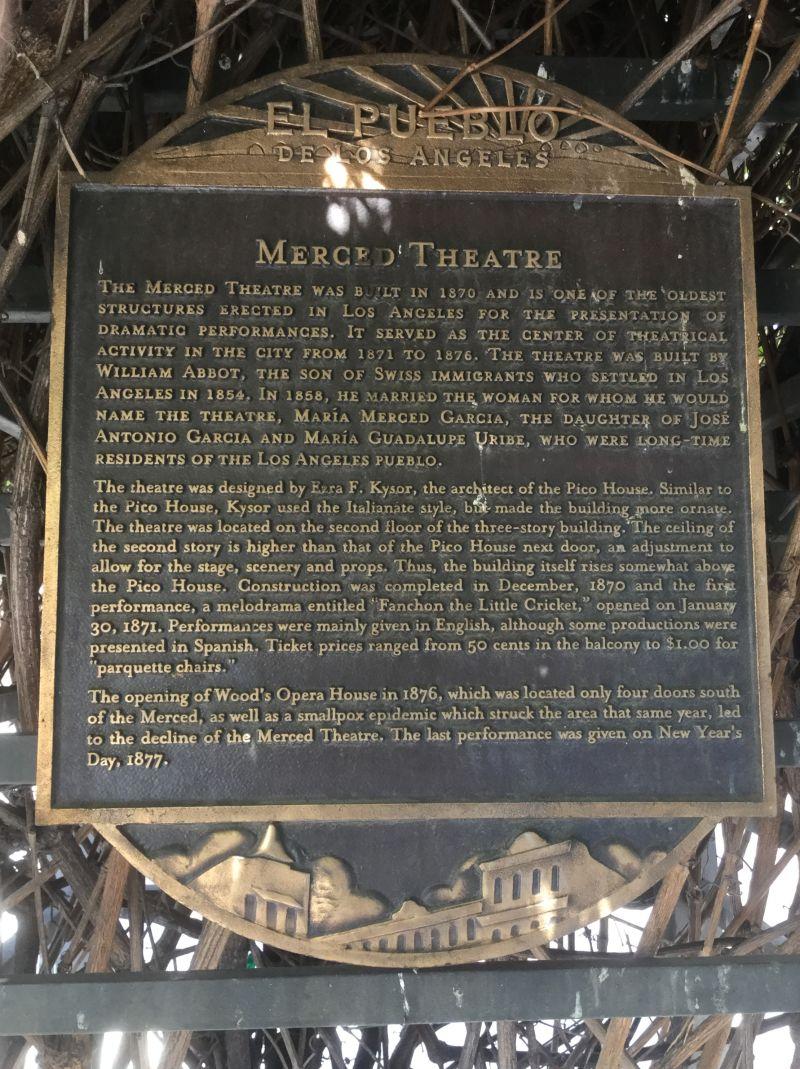 NO. 171 MERCED THEATRE - Private Plaque