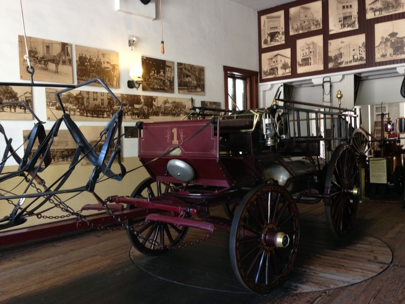 NO. 730 OLD PLAZA FIREHOUSE - Horse drawn fire wagon