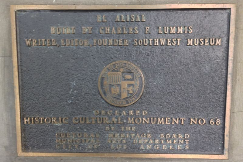 NO. 531 LUMMIS HOME - Private Plaque