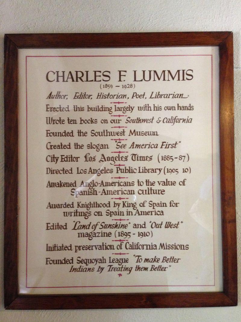 NO. 531 LUMMIS HOME - Charles F. Lummis