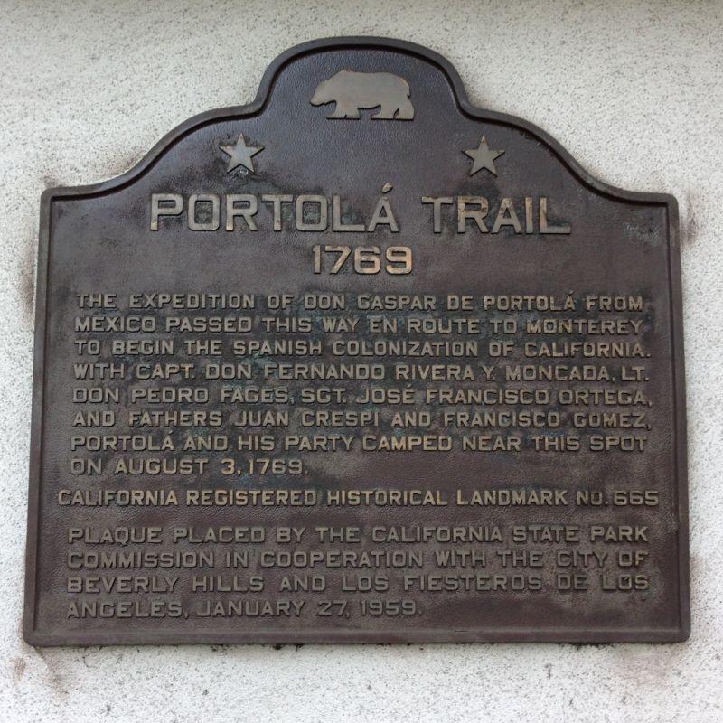 NO. 665 PORTOLÁ TRAIL CAMPSITE, 2 - State Plaque