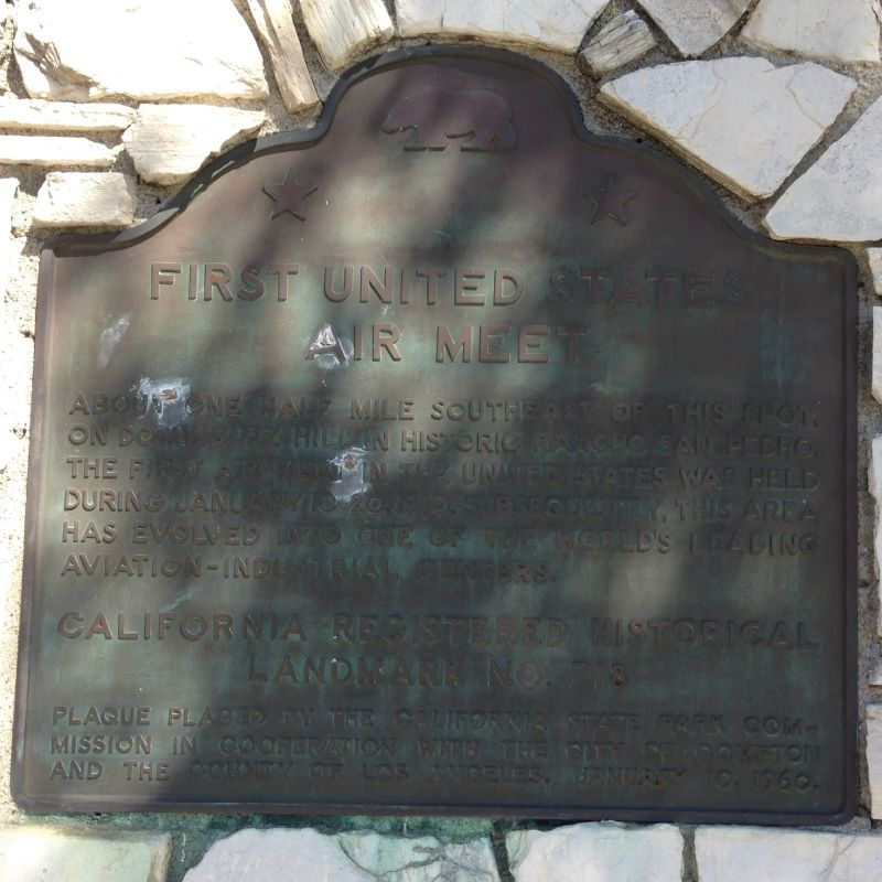 NO. 718 SITE OF THE INITIAL UNITED STATES AIR MEET - State Plaque