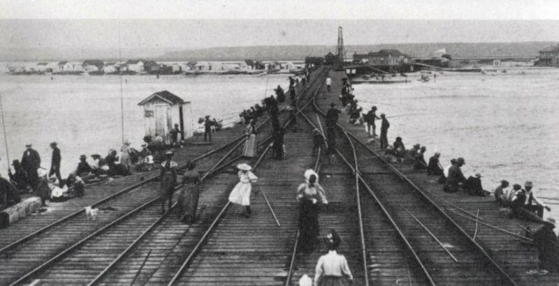 McFadden Wharf 1895, when the rail went to the sea.