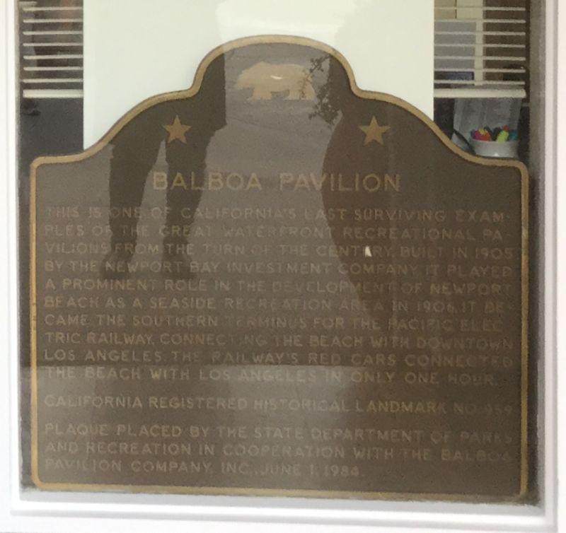 NO. 959 BALBOA PAVILION - State Plaque