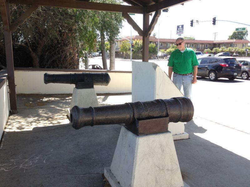 NO. 385 RIO SAN GABRIEL BATTLEFIELD - Cannons