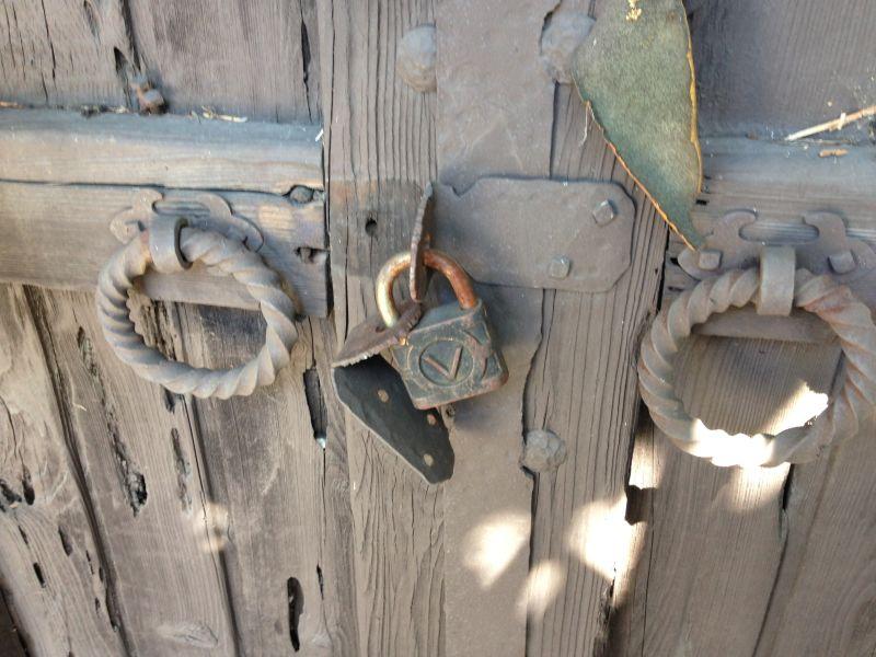 NO. 451 THE ORTEGA-VIGARE ADOBE - Front Gate Locks