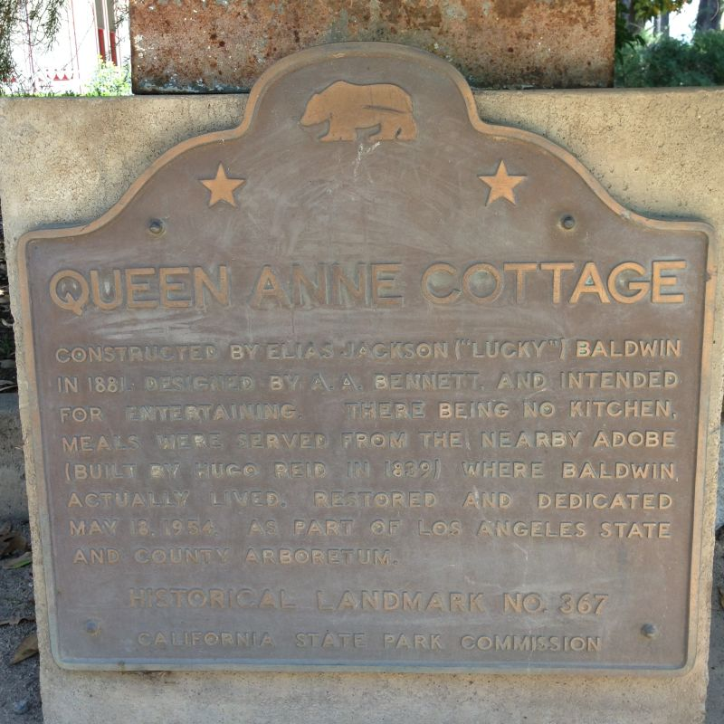 NO. 367 E. J. BALDWIN'S QUEEN ANNE COTTAGE - State Plaque