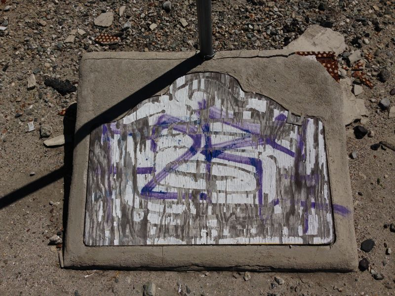 NO. 167 LA MESA BATTLEFIELD -Missing state plaque