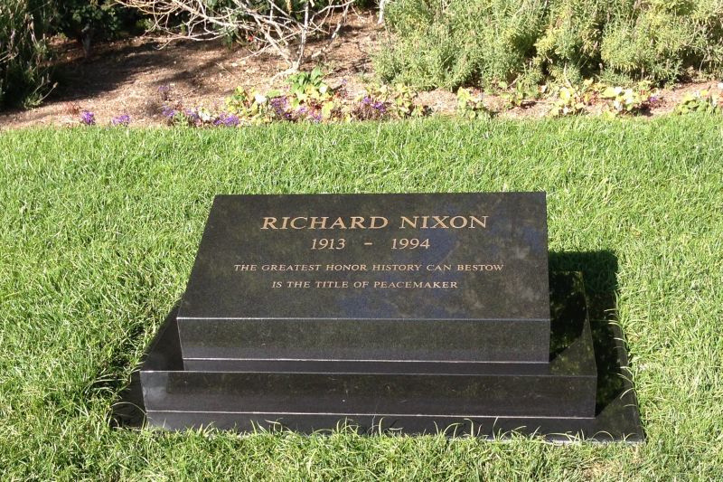 NO. 1015 RICHARD NIXON BIRTHPLACE - Nixon is buried right behind his old home.