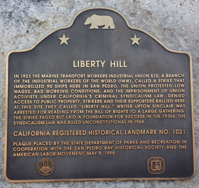 NO. 1021 LIBERTY HILL SITE - State Plaque