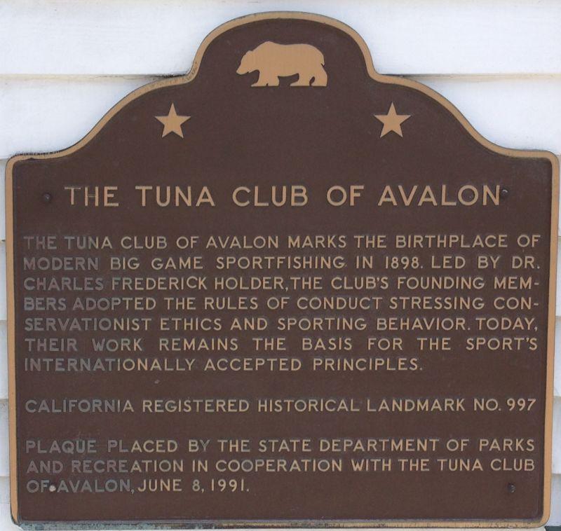 NO. 997 TUNA CLUB OF AVALON -  Catalina Island