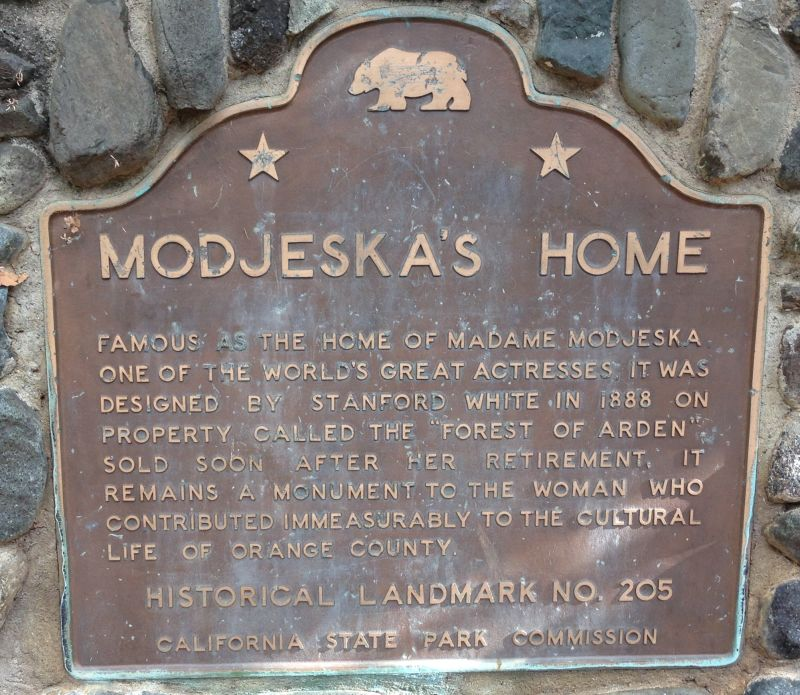 NO. 205 MODJESKA'S HOME - State Plaque