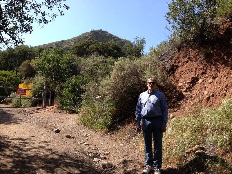 NO. 225 FLORES PEAK - Trail head on the north side of Modjeska Canyon Rd