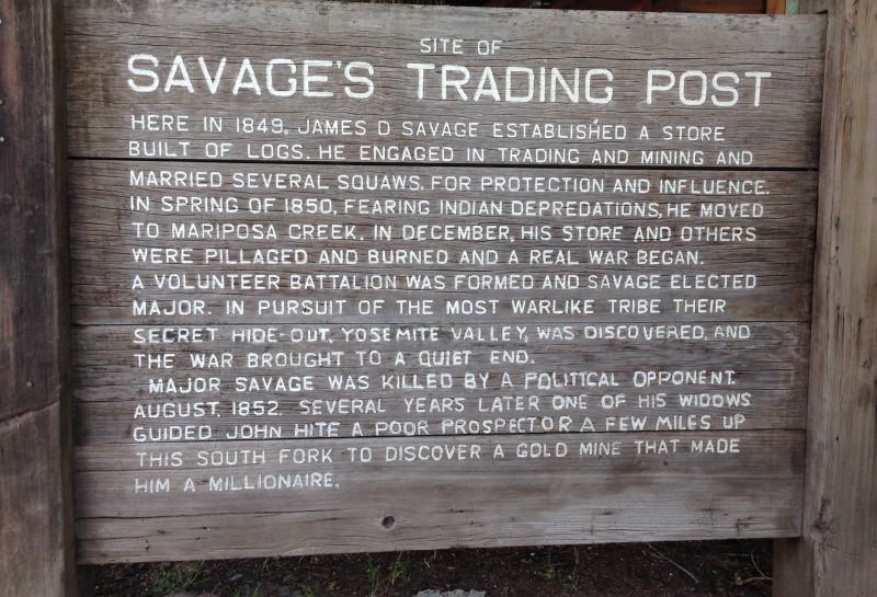 NO. 527 SAVAGE TRADING POST - Private Sign