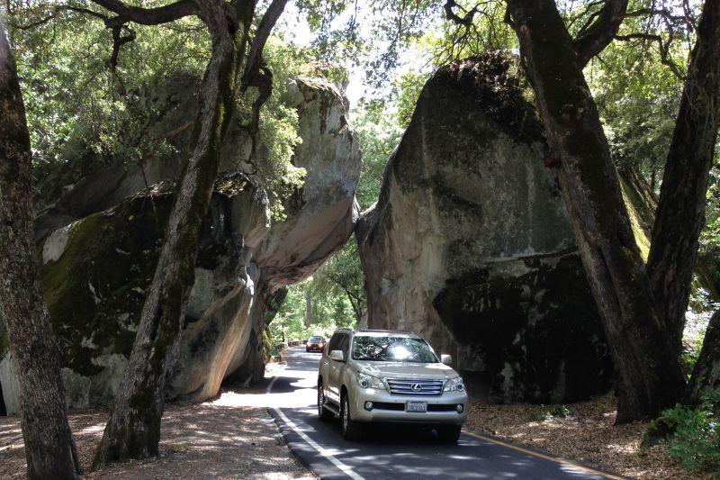 NO. 790 YOSEMITE VALLEY - Rock formation near entrance