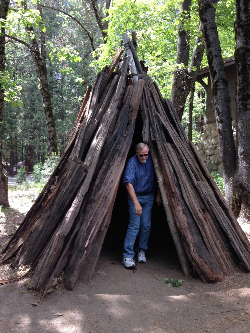 YOSEMITE VALLEY -  Umacha: Typical Miwok and Paiute home made from cedar bark