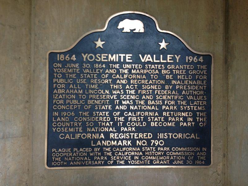 NO. 790 YOSEMITE VALLEY - State Plaque