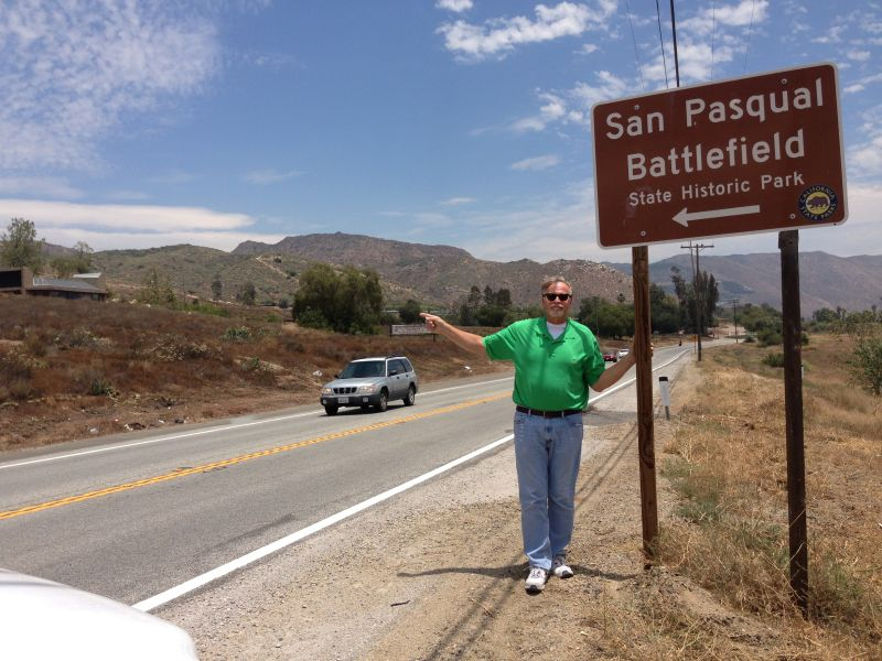 NO. 533 SAN PASQUAL BATTLEFIELD STATE PARK -Street Sign
