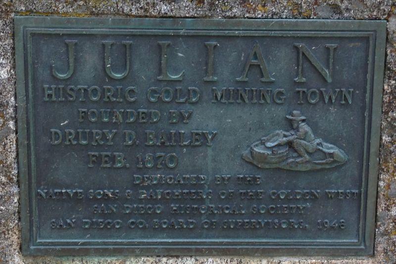 NO. 412 JULIAN - Private Plaque