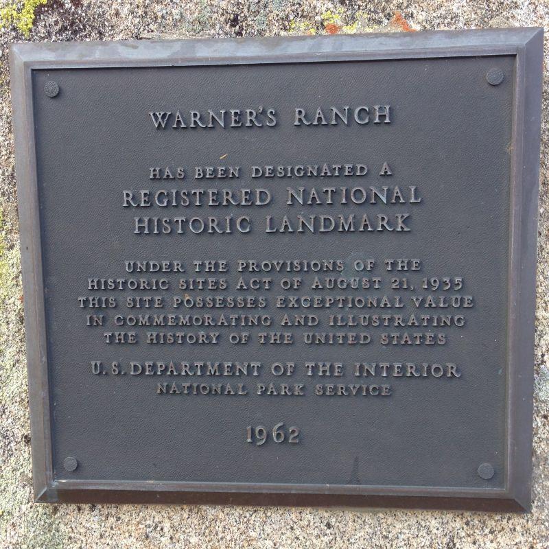 NO. 311 WARNER'S RANCH - National Plaque