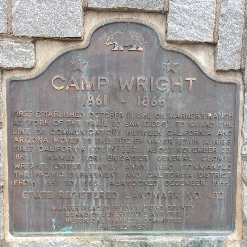 NO. 482 CAMP WRIGHT - State Plaque